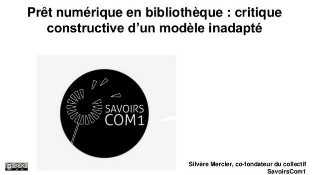 Prêt Numérique en Bibliothèque : critique constructive d'un modèle inadapté