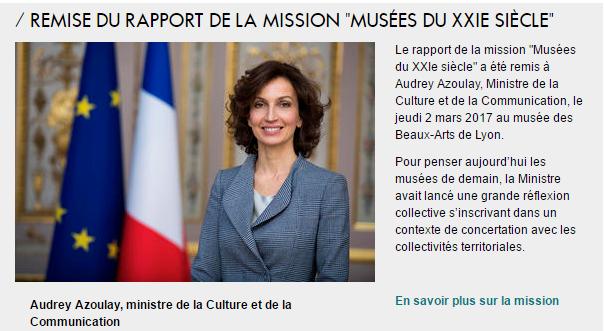 Rapport «Musées Du XXIe siècle» : la culture toujours sans ouverture