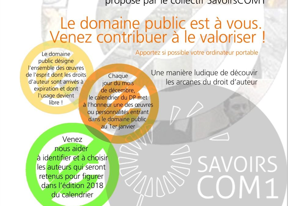 Pas Sages en Seine 2017 : Atelier de préparation du calendrier de l'Avent du domaine public 2018